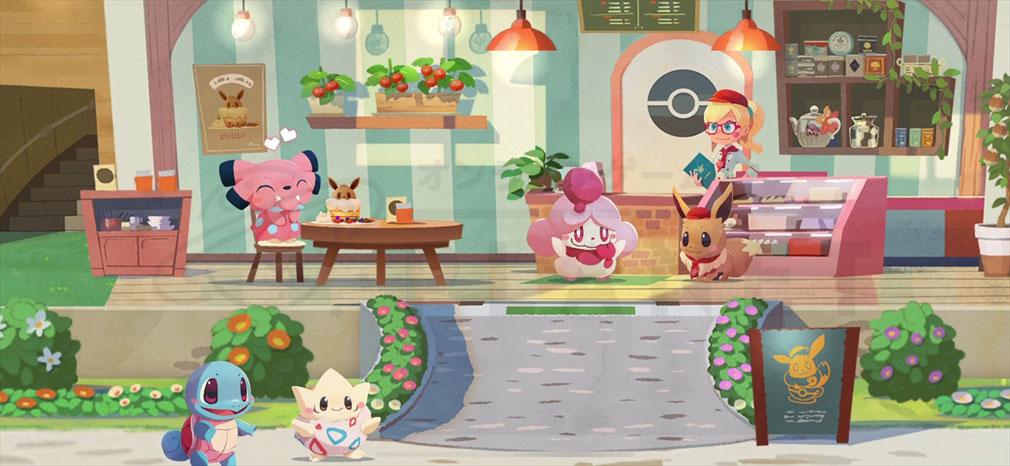 Pokémon Café Mix(ポケモンカフェミックス) 賑やかなカフェ紹介イメージ