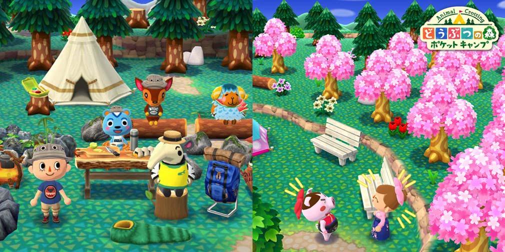 どうぶつの森 ポケットキャンプ(ポケ森) キャンプ場、散歩スクリーンショット