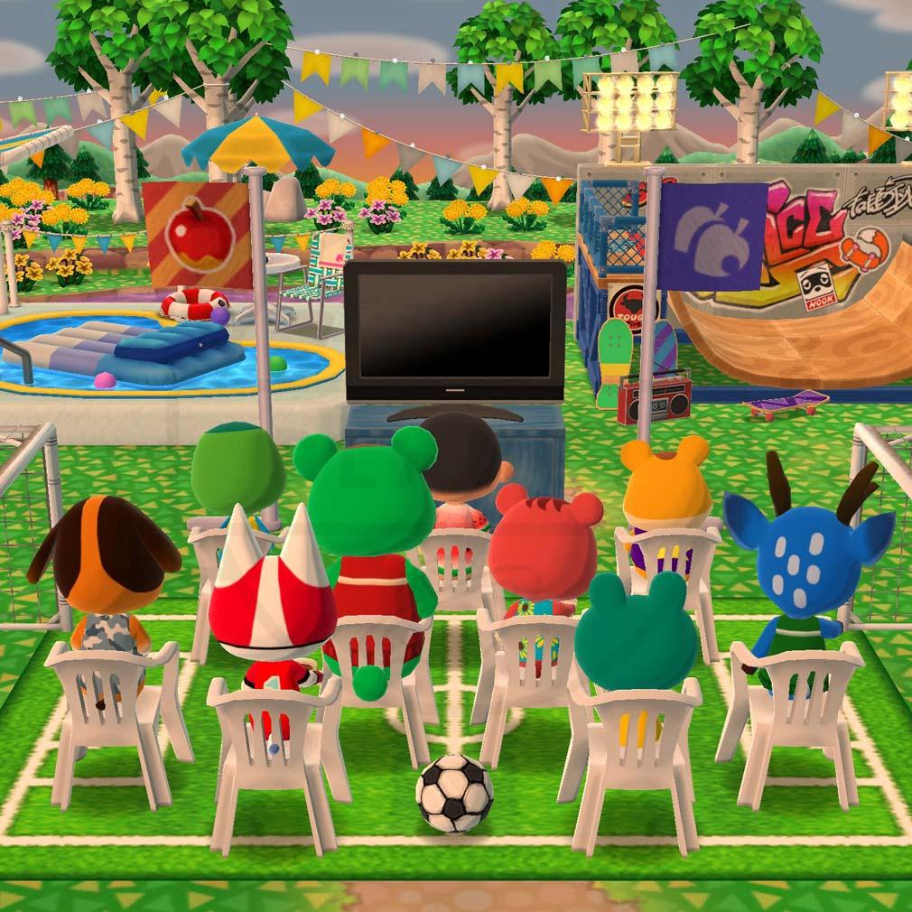 どうぶつの森 ポケットキャンプ(ポケ森) プールを作ったキャンプ場スクリーンショット