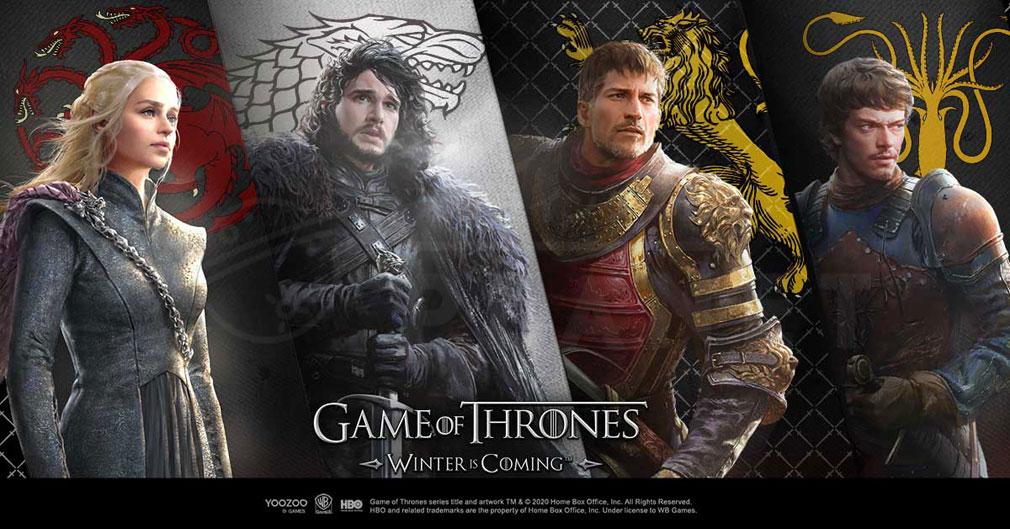 ゲームオブスローンズ 冬来たる(Game of Thrones Winter is Coming) 各名家紹介イメージ