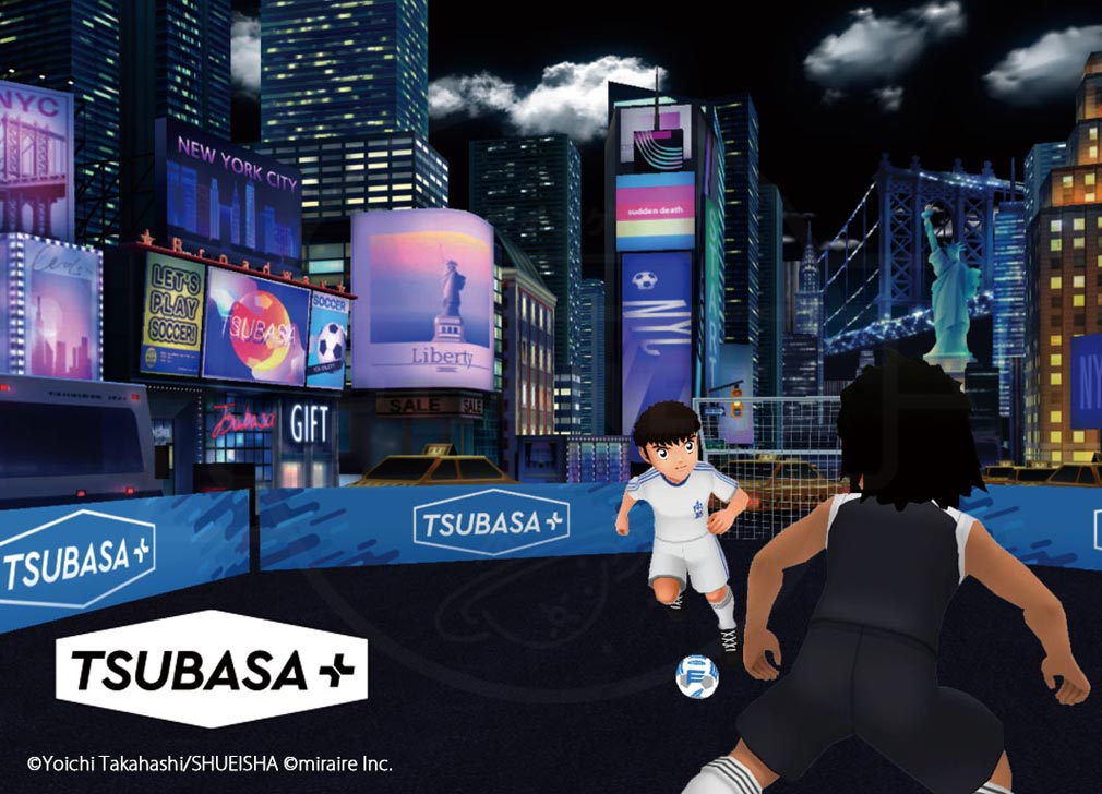 TSUBASA+(ツバサプラス)ツバプラ 街中でのバトル紹介イメージ