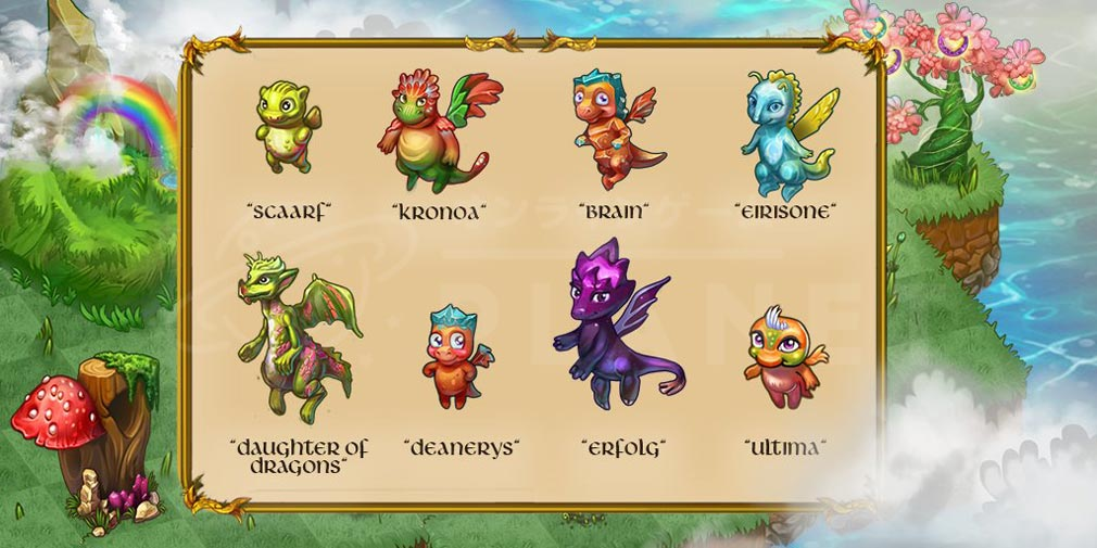 マージドラゴン(Merge Dragons) 色々なドラゴン紹介イメージ