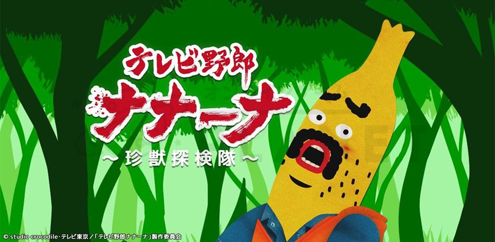 テレビ野郎ナナーナ 珍獣探検隊 キービジュアル