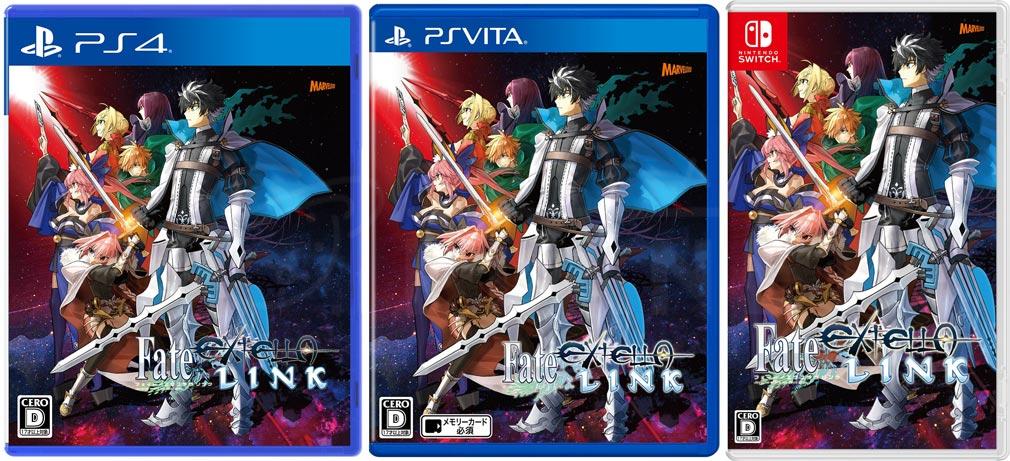 Fate/EXTELLA LINK(フェイト/エクストラ リンク) PS4/PS Vita/Switchパッケージ紹介イメージ