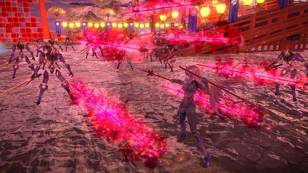 Fate/EXTELLA(フェイトエクストラ) サーヴァント『スカサハ』バトルスクリーンショット