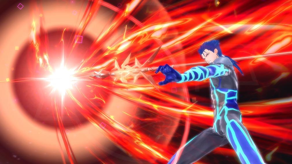 Fate/EXTELLA(フェイトエクストラ) キャラクター『クー・フーリン』の宝具発動スクリーンショット