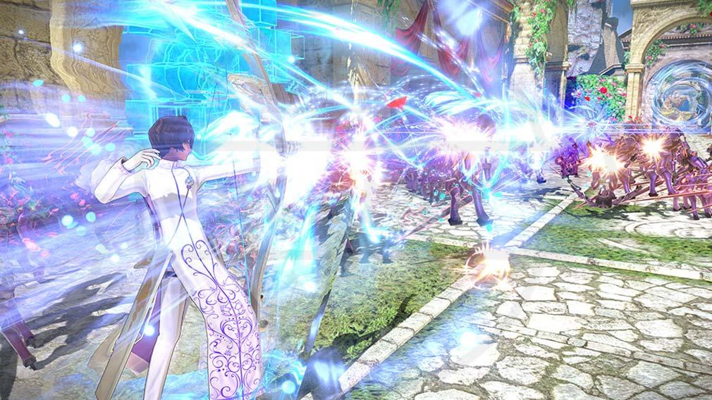 Fate/EXTELLA(フェイトエクストラ) サーヴァント『アルジュナ』バトルスクリーンショット