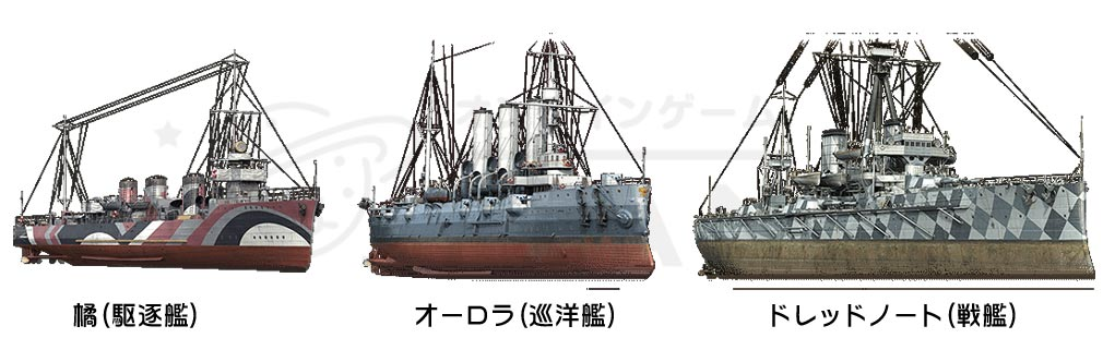 ワールドオブウォーシップス World of Warships (WoWs) a.プレミアム艦艇3隻紹介イメージ