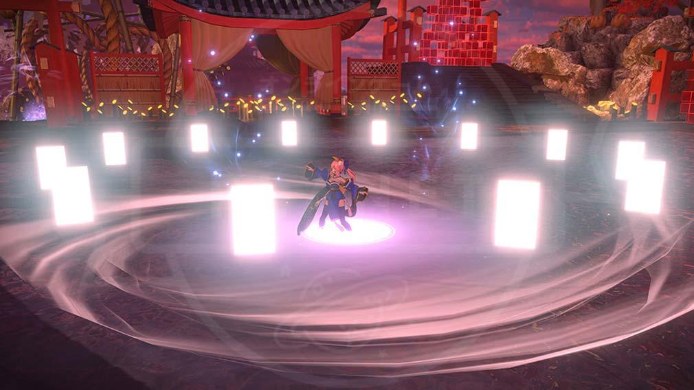 Fate/EXTELLA(フェイトエクストラ) サーヴァント『玉藻の前』バトルスクリーンショット