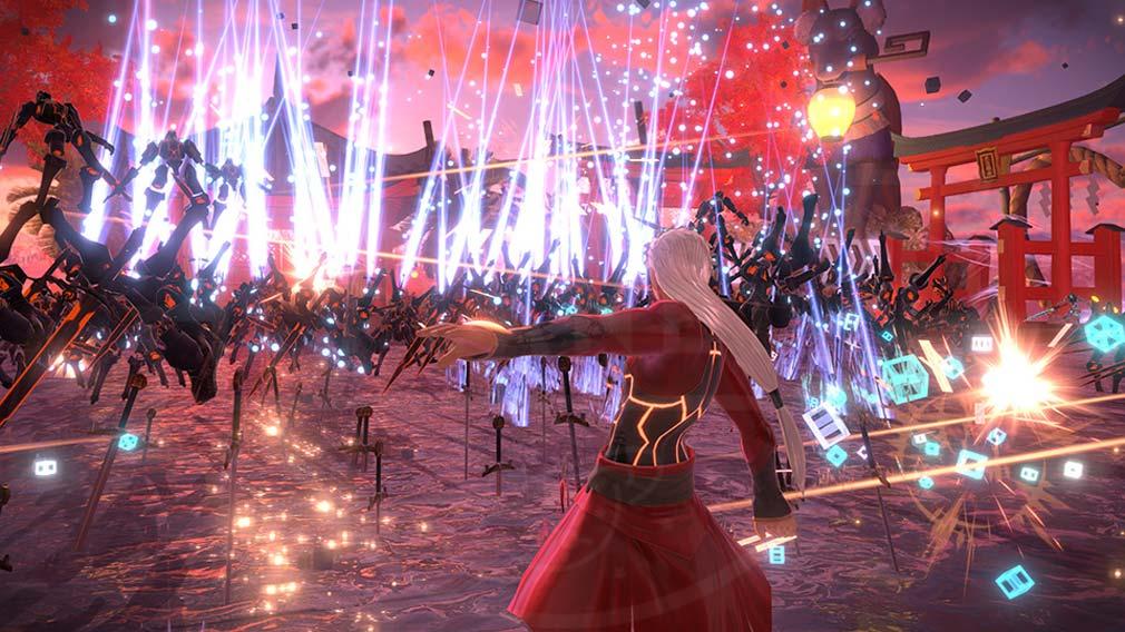 Fate/EXTELLA(フェイトエクストラ) サーヴァント『無銘』バトルスクリーンショット