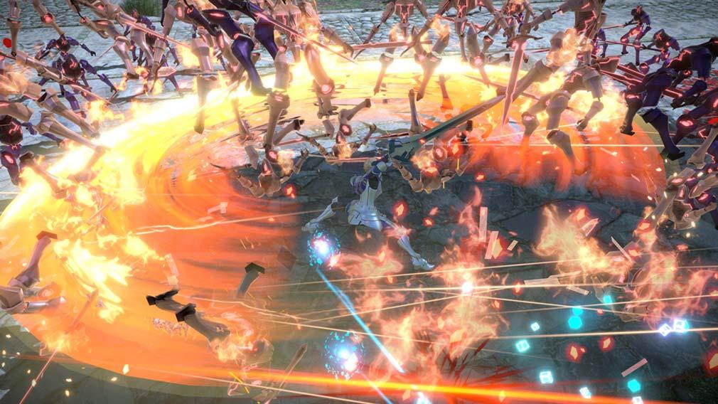 Fate/EXTELLA(フェイトエクストラ) サーヴァント『ガウェイン』バトルスクリーンショット