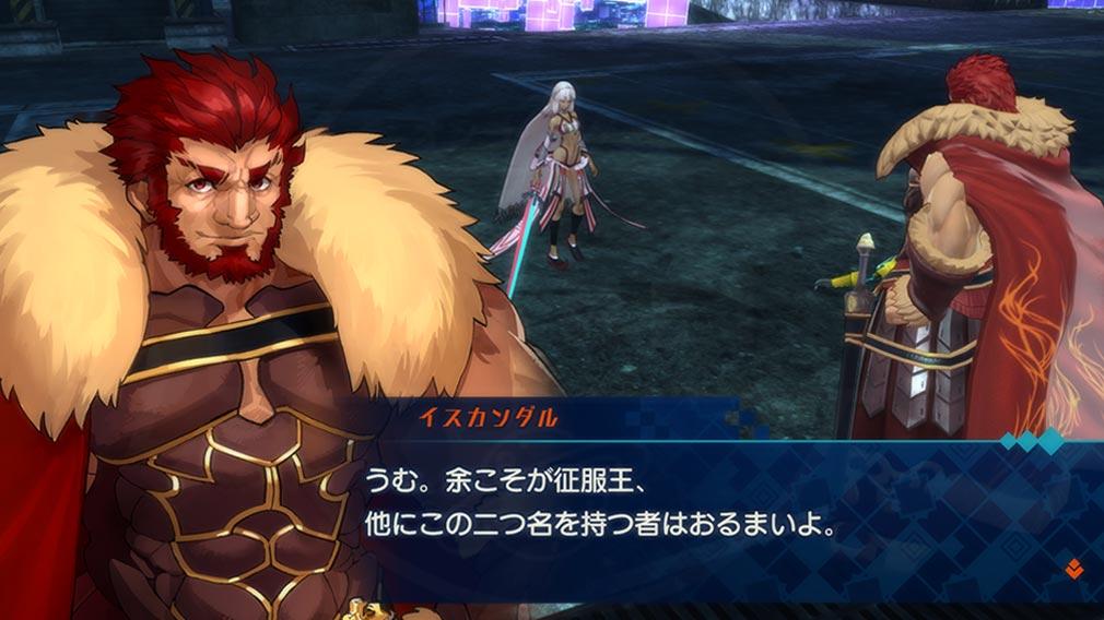 Fate/EXTELLA(フェイトエクストラ) キャラクター『イスカンダル』の宝具発動スクリーンショット