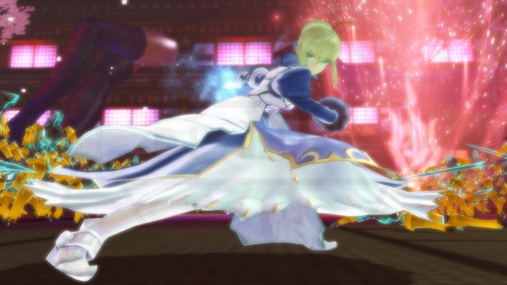 Fate/EXTELLA(フェイトエクストラ) キャラクター『アルトリア・ペンドラゴン』スクリーンショット