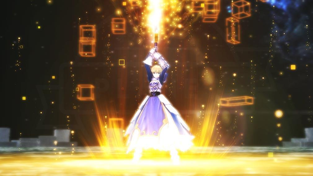 Fate/EXTELLA(フェイトエクストラ) キャラクター『アルトリア・ペンドラゴン』の宝具発動スクリーンショット