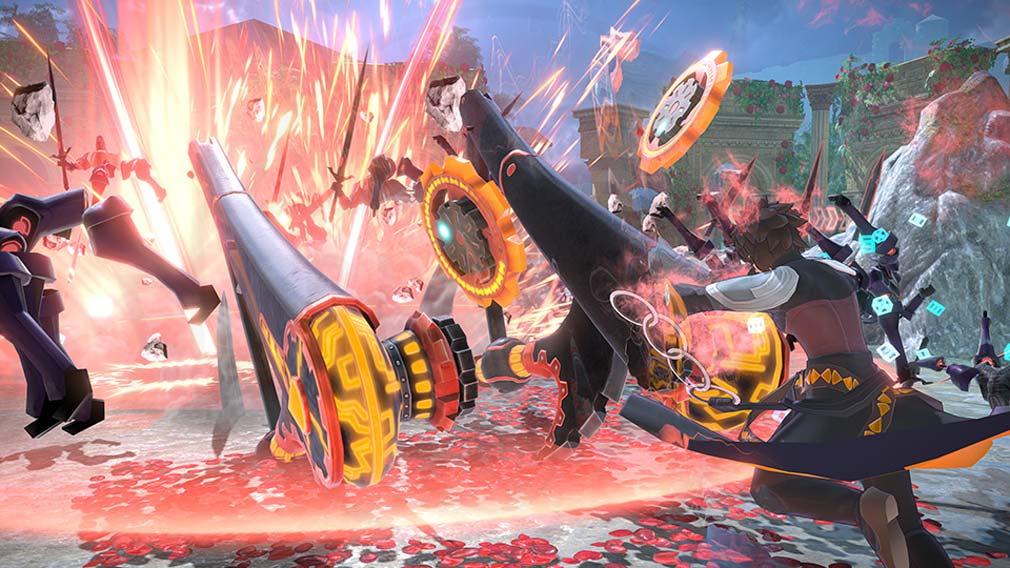 Fate/EXTELLA(フェイトエクストラ) サーヴァント『アルキメデス』バトルスクリーンショット