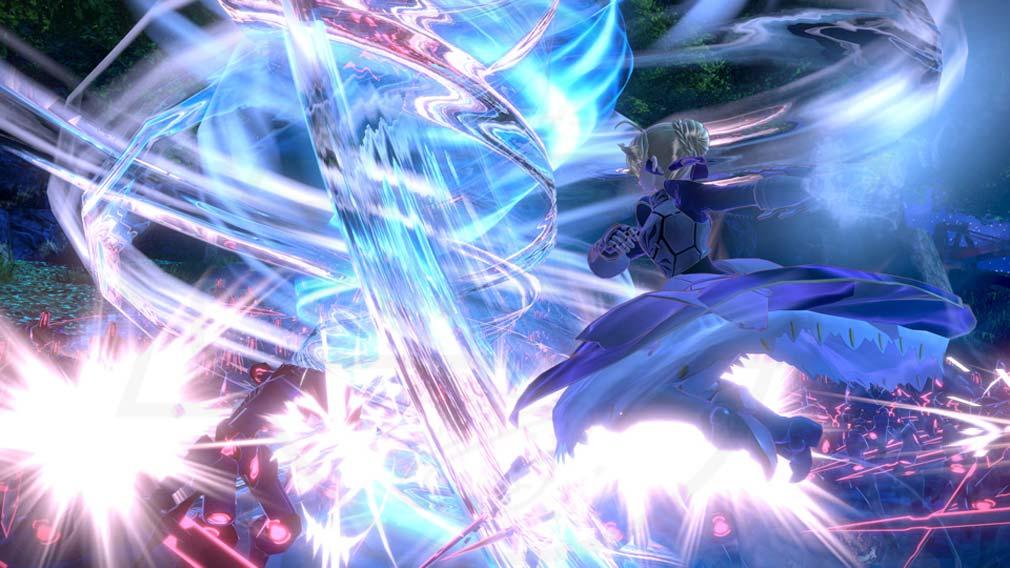 Fate/EXTELLA(フェイトエクストラ) サーヴァント『アルトリア・ペンドラゴン』バトルスクリーンショット