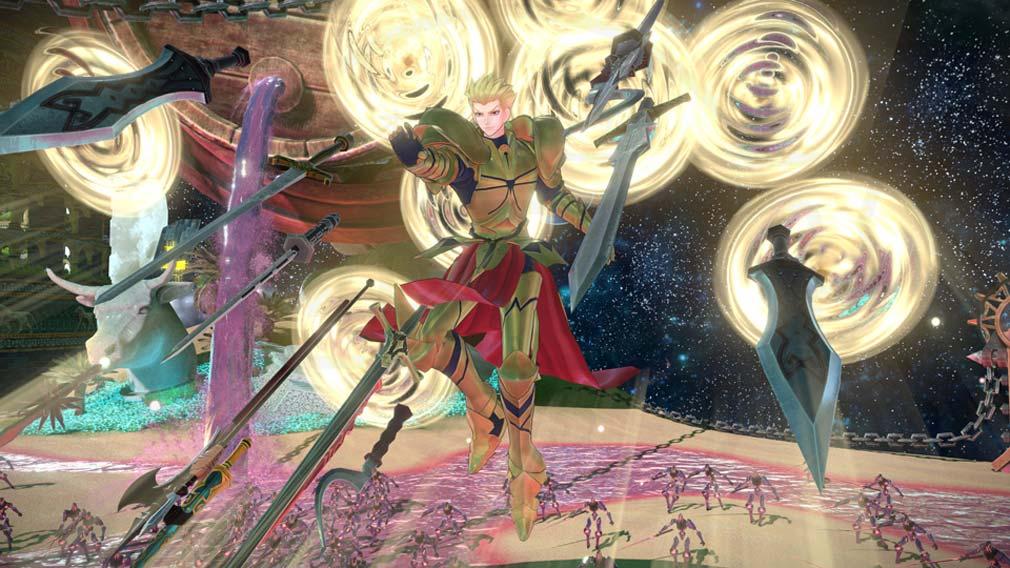 Fate/EXTELLA(フェイトエクストラ) サーヴァント『ギルガメッシュ』バトルスクリーンショット