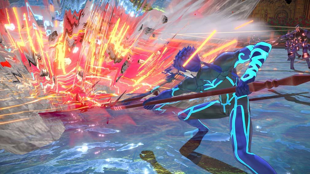 Fate/EXTELLA(フェイトエクストラ) サーヴァント『クー・フーリン』バトルスクリーンショット