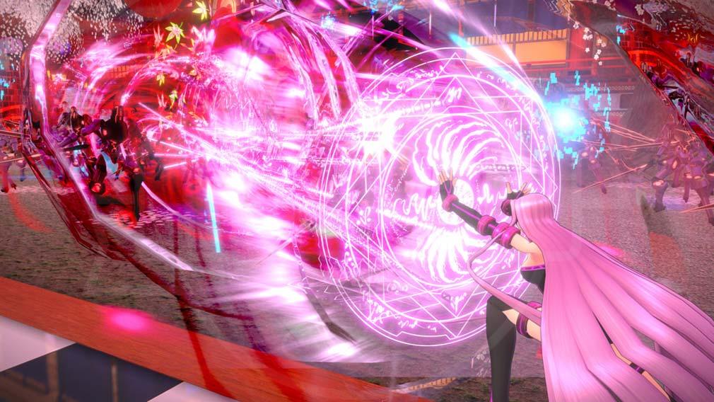 Fate/EXTELLA(フェイトエクストラ) サーヴァント『メドゥーサ』バトルスクリーンショット