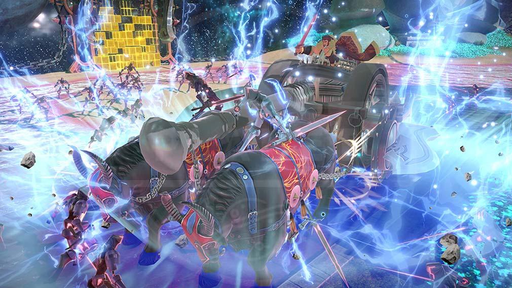 Fate/EXTELLA(フェイトエクストラ) サーヴァント『イスカンダル』バトルスクリーンショット