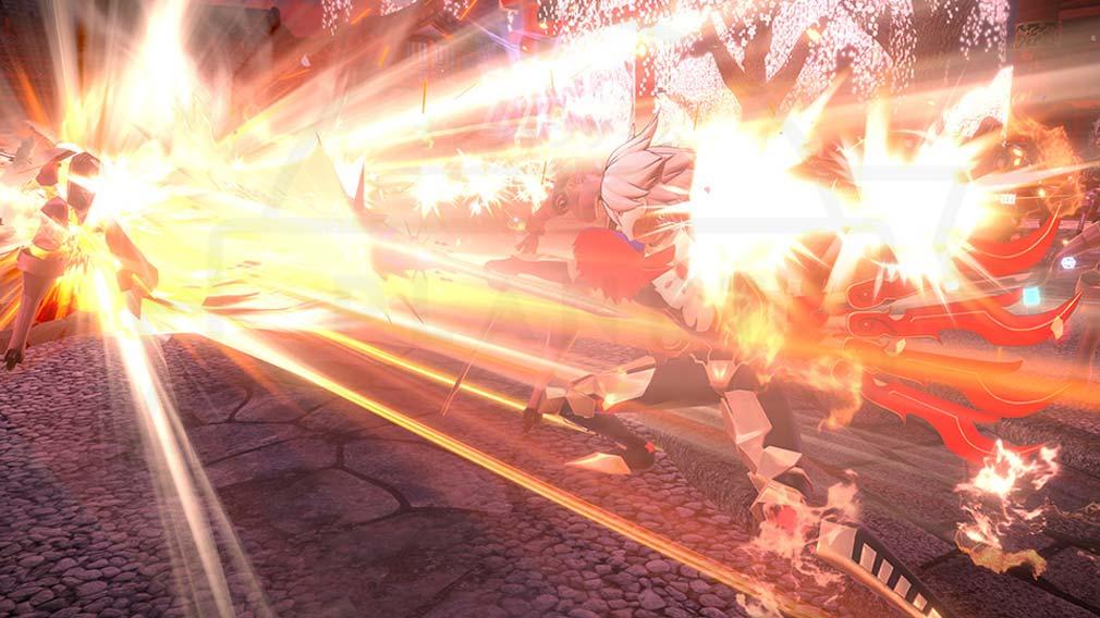 Fate/EXTELLA(フェイトエクストラ) サーヴァント『カルナ』バトルスクリーンショット