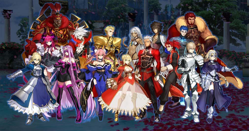 Fate/EXTELLA LINK(フェイト/エクストラ リンク) 総勢26騎サーヴァント紹介イメージ
