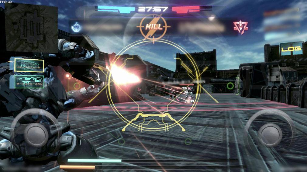 タイタンウォーズ(Titan Wars) 『デスマッチモード』バトルスクリーンショット