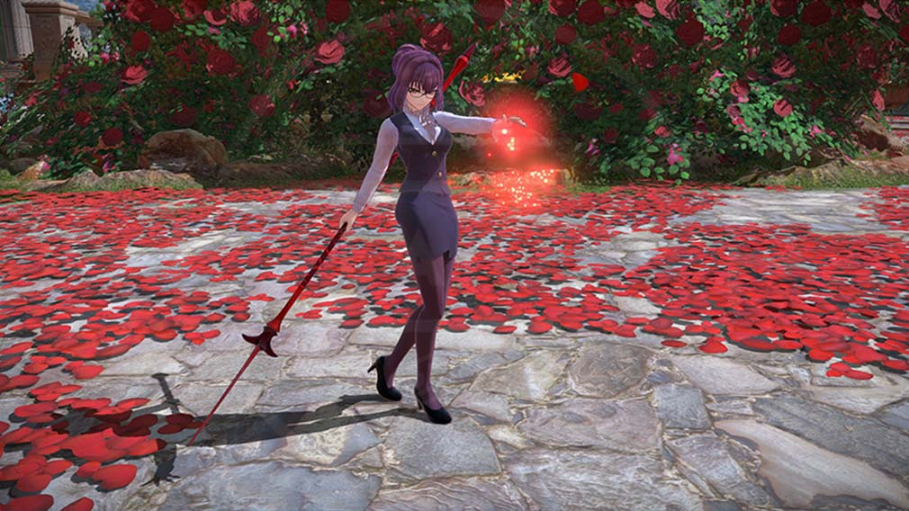 Fate/EXTELLA LINK(フェイト/エクストラ リンク) 『コスチューム』が反映されたバトルスクリーンショット