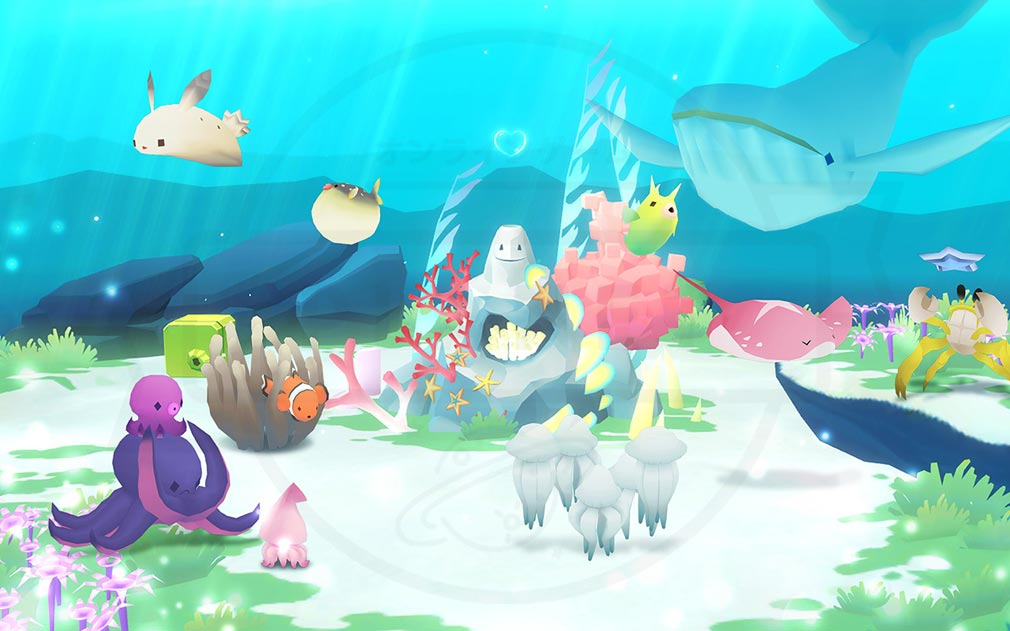 アビスリウムワールド パステルトーンが可愛らしい『自分だけの海』を作り上げるスクリーンショット
