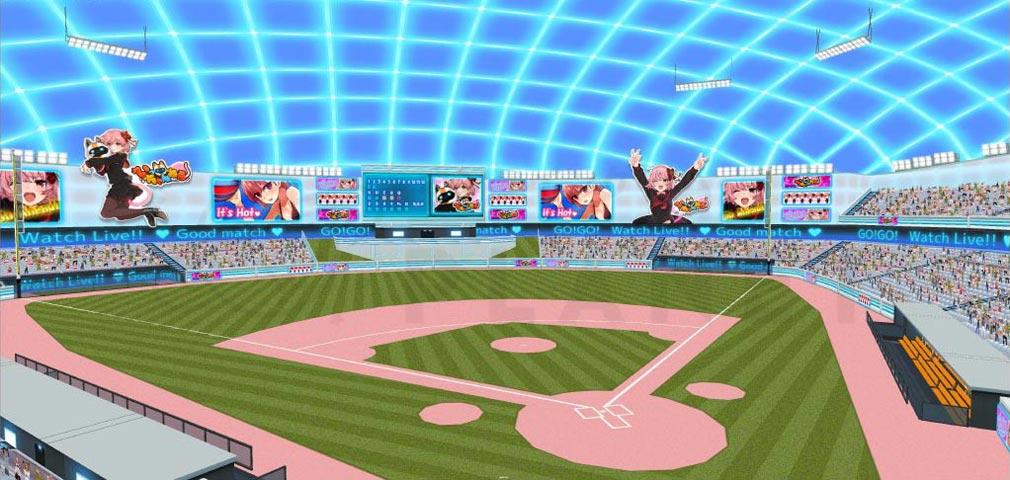 Vチューバーベースボール(Vtuber Baseball) 『ドーム球場』紹介イメージ
