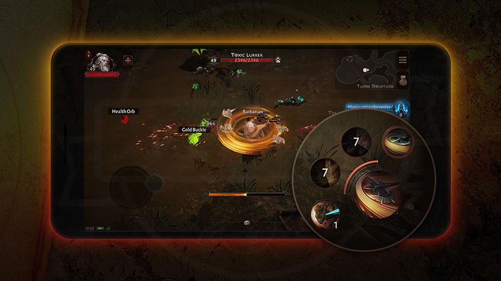 ディアブロ イモータル(Diablo Immortal) Blizzard Battle.net対応のUI紹介イメージ