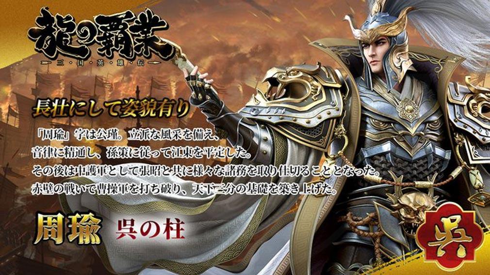 龍の覇業 三国英雄伝 キャラクター『周瑜』紹介イメージ