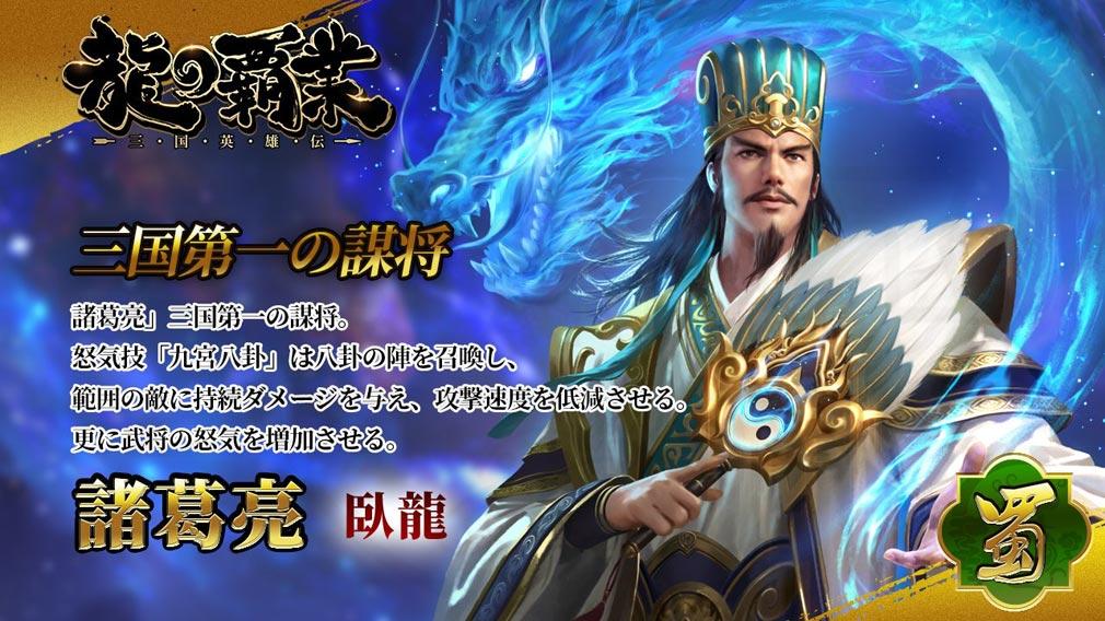龍の覇業 三国英雄伝 キャラクター『諸葛亮』紹介イメージ