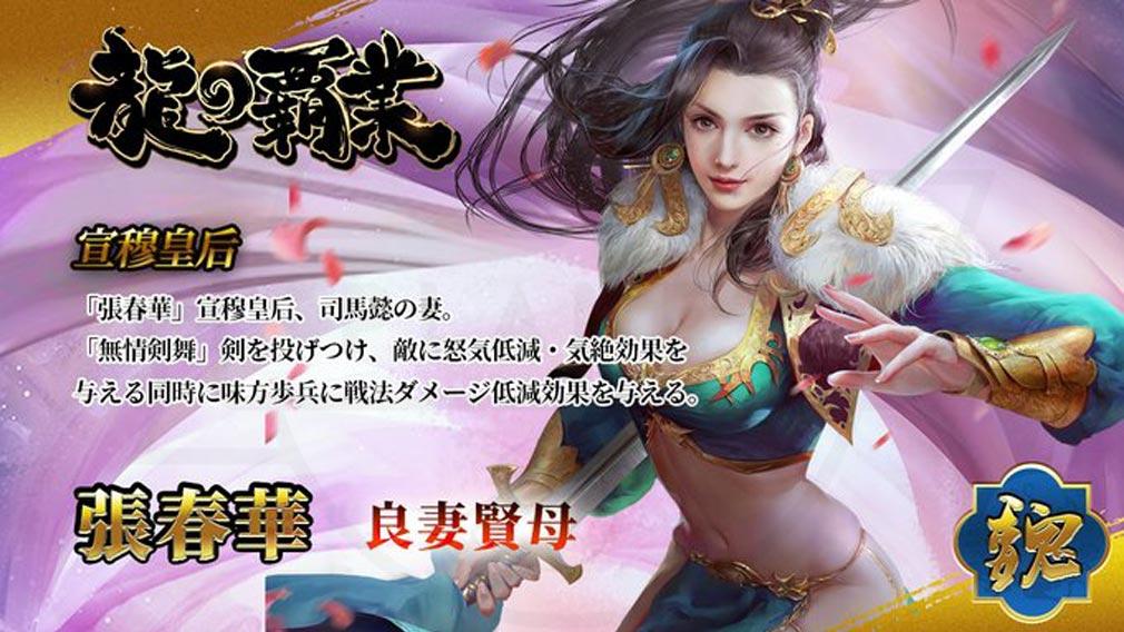 龍の覇業 三国英雄伝 キャラクター『張春華』紹介イメージ