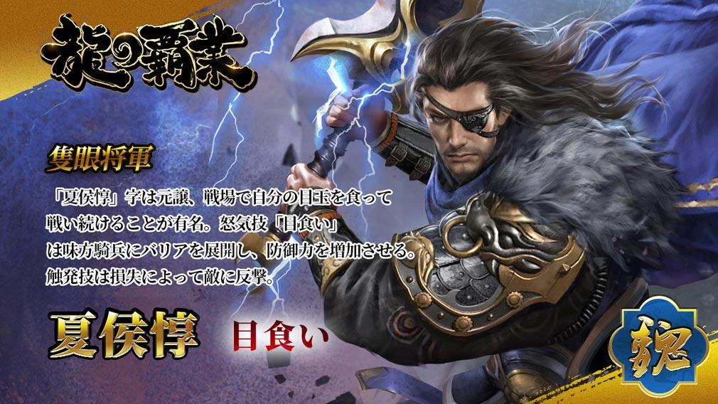 龍の覇業 三国英雄伝 キャラクター『夏侯惇』紹介イメージ