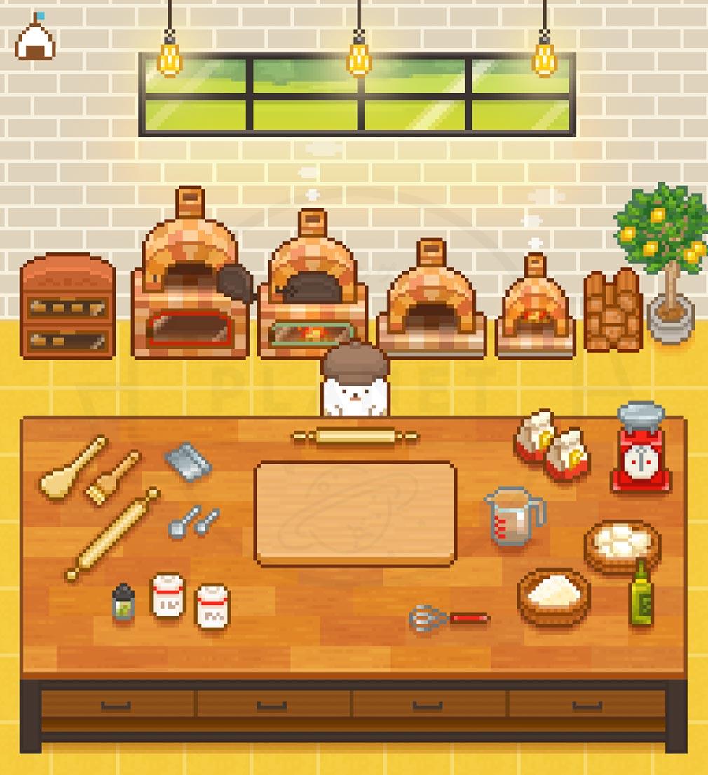 できたて!ようせいベーカリー お店でパン作っている紹介イメージ