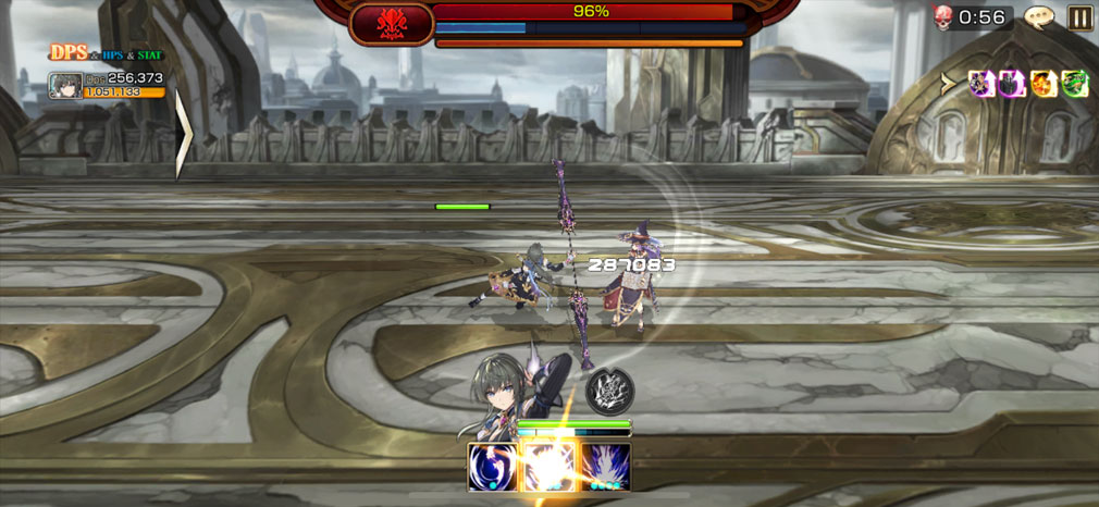 キングスレイド(キンスレ) 新規英雄のヒルダのバトルスクリーンショット