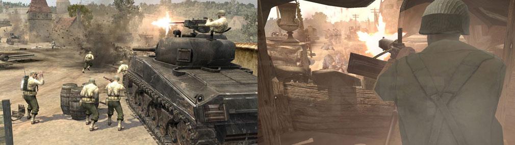 Company of Heroes(カンパニー オブ ヒーローズ) 戦車、銃撃プレイスクリーンショット