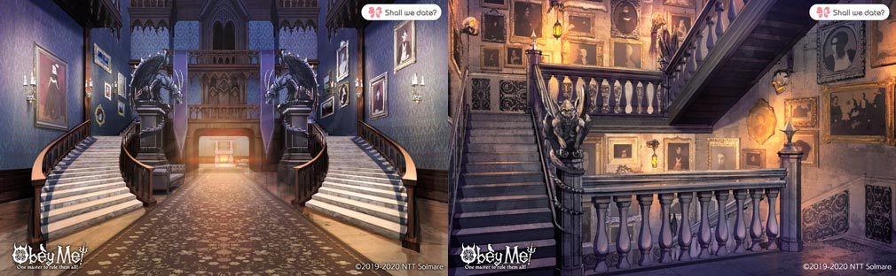 Obey Me! (おべいみー) 『嘆きの館』色々なエリア紹介イメージ