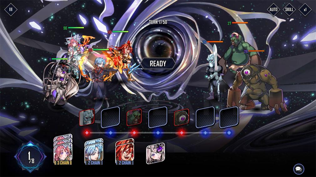 ヒーローカンターレ ヒーローアイコンを重ねて攻撃方法を決定するスクリーンショット