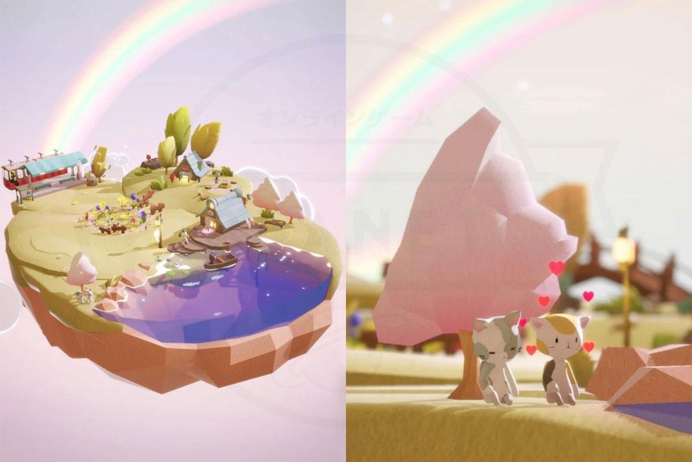 ねこより 空の島、可愛いネコ紹介イメージ