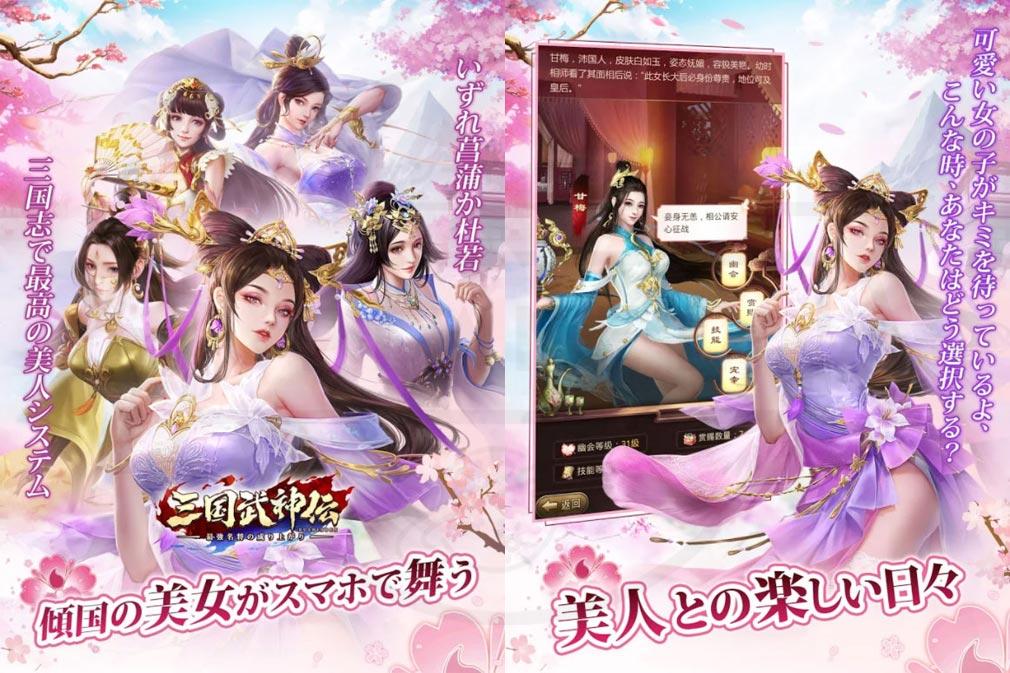 三国武神伝 最強名将の成り上がり 美女システム紹介イメージ