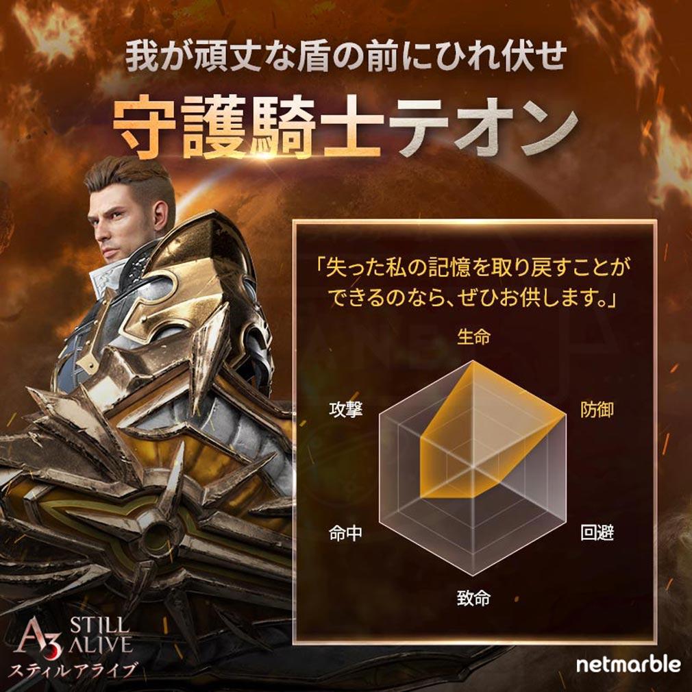 A3 STILL ALIVE スティルアライブ キャラクター『守護騎士』紹介イメージ