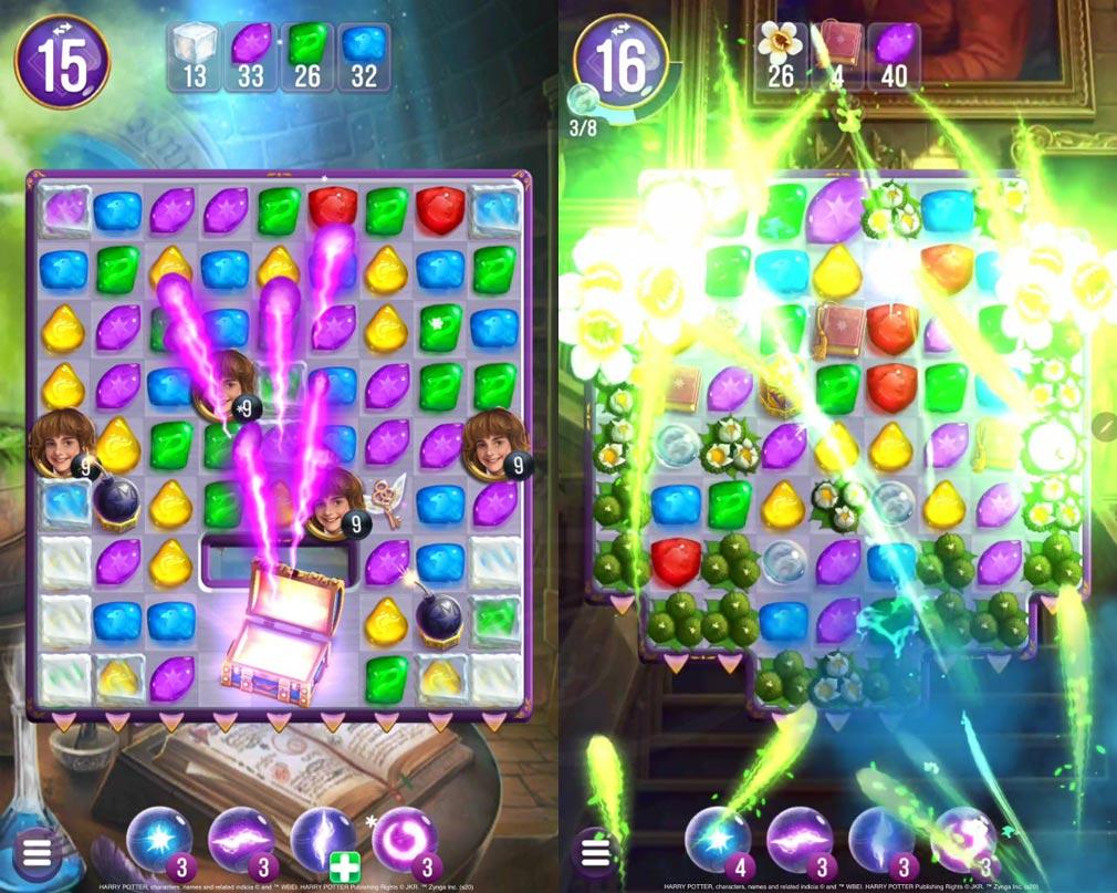 ハリー・ポッター 呪文と魔法のパズル 美麗な演出のパズルアクションスクリーンショット