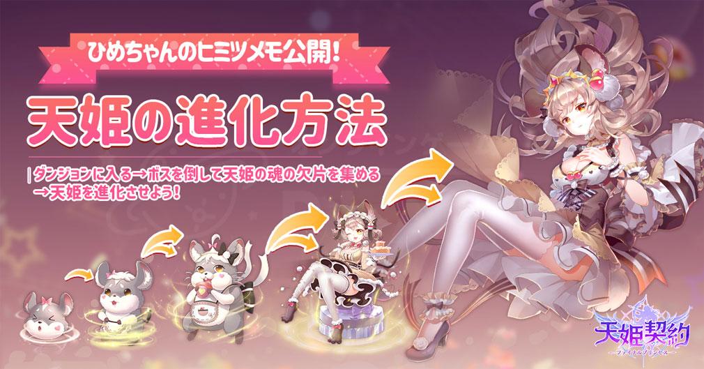 天姫契約 ファイナルプリンセス 進化形態紹介イメージ