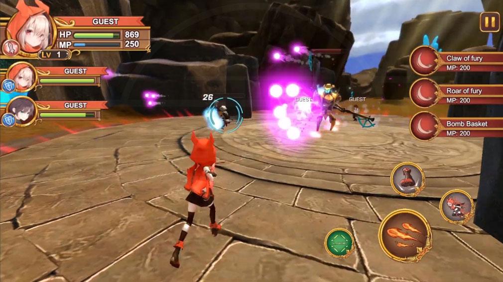 Gate Of Mobius 運命に抗う者達 (モビウスの門) アクションシューティングバトルスクリーンショット