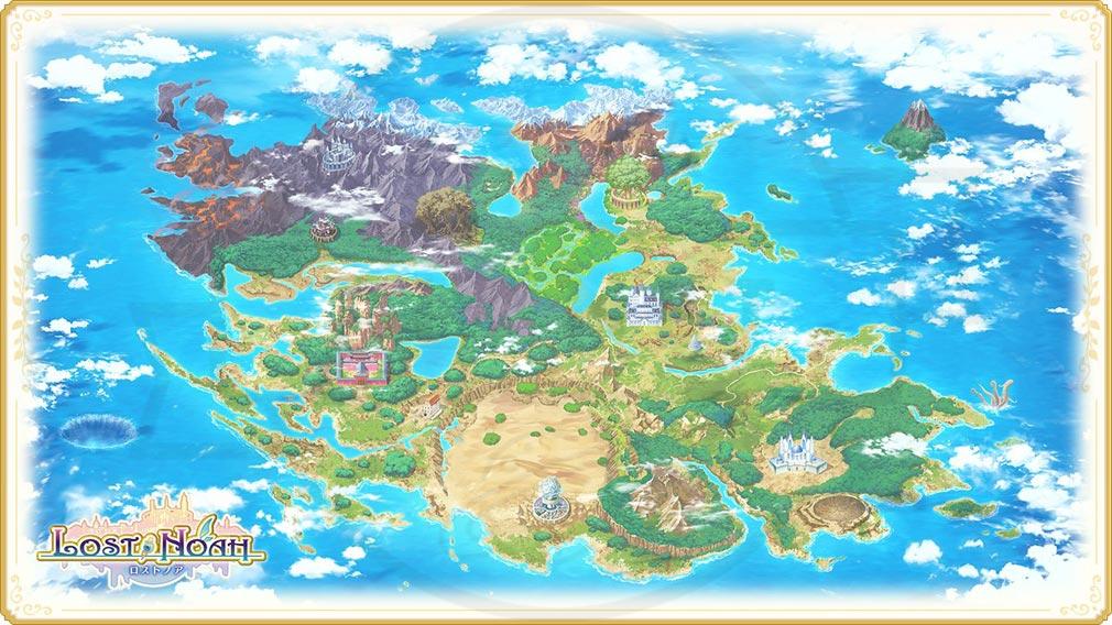ロストノア 『世界地図』紹介イメージ