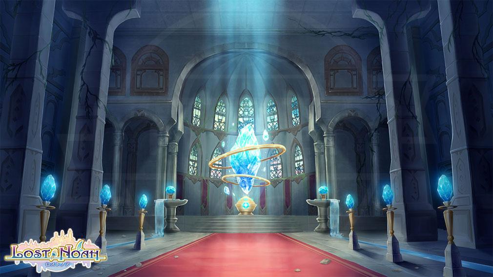 ロストノア 世界観『浮遊島ノア』の中にある神殿の紹介イメージ