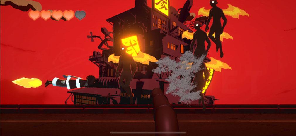 炎炎ノ消防隊 焰道の決戦 障害物が出現しているプレイスクリーンショット