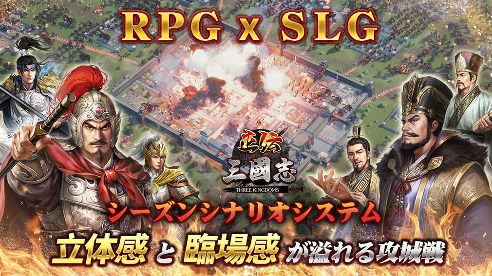正伝三国志 RPGとシミュレーションが融合したゲーム性紹介イメージ